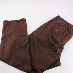 Bonobos Mens Chino Pants Brown Straight Fit Flat